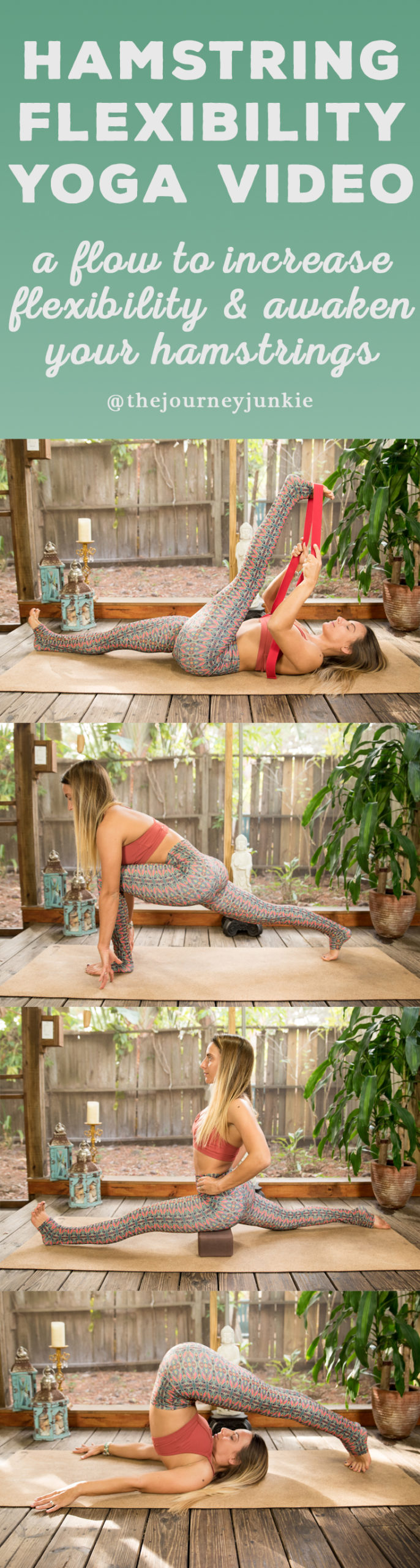 Hamstring Yoga Flow for Flexibility - 30 Minute Video - Pin now, stretch your hamstrings now!
