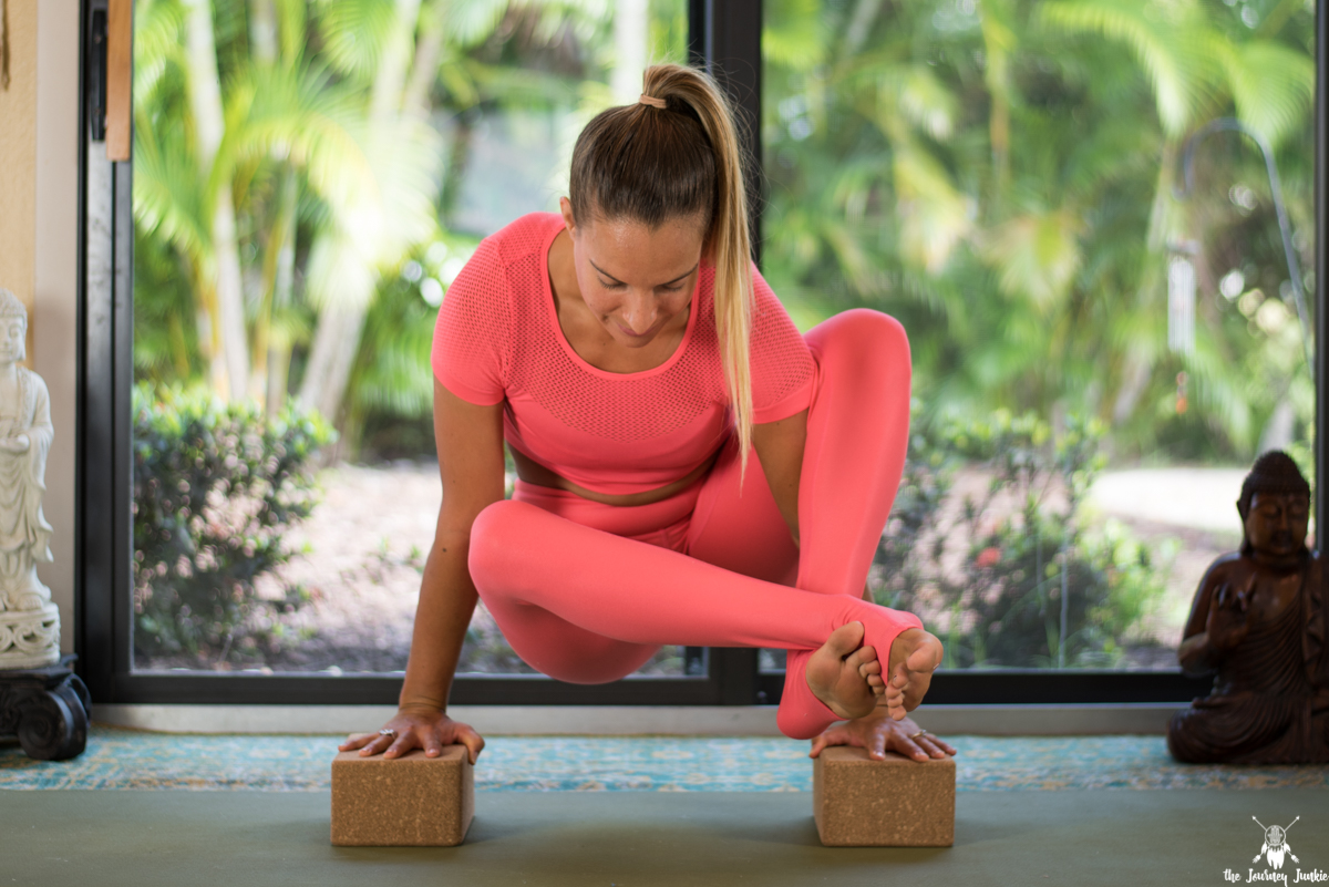 Eight Angle Pose Yoga Flow: Build Upper Body Strength + Open Your Hips - Pin now, practice eight angle pose later!