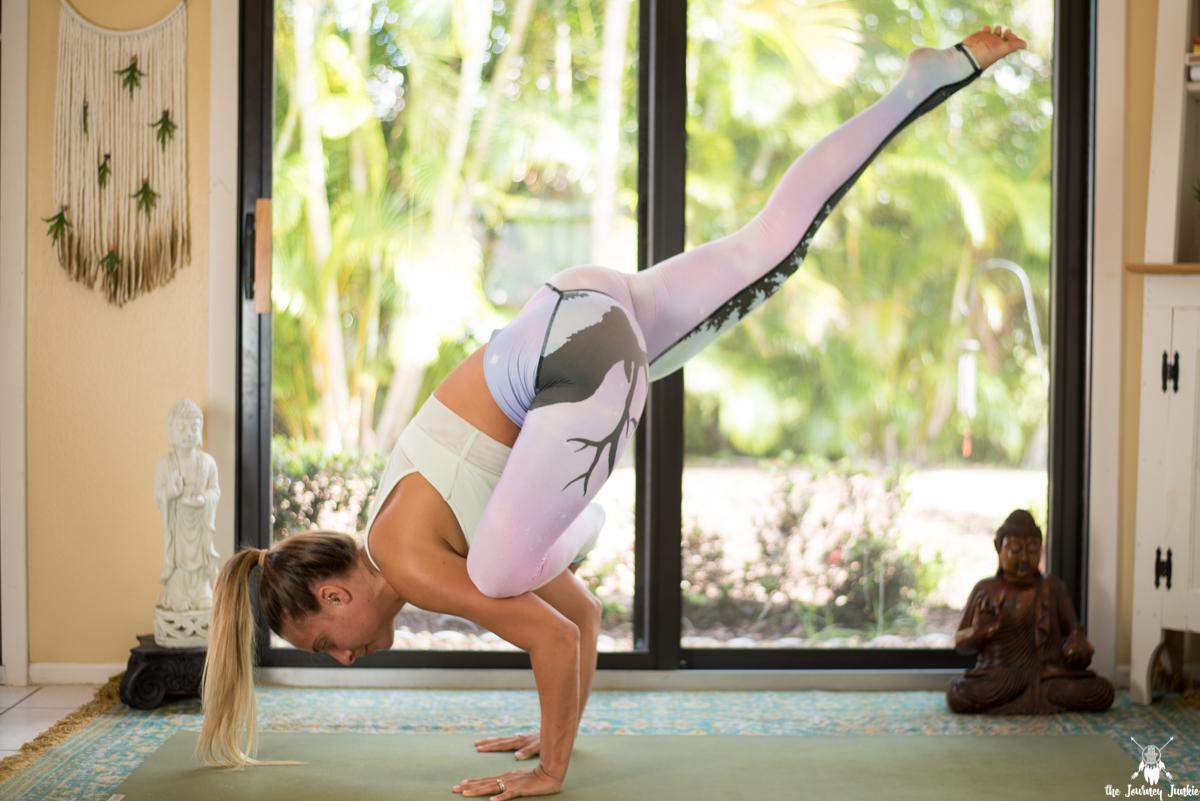 Arm Balance Power Yoga Flow for Flying Pigeon Pose (Eka Pada Galavasana) - Pin now, practice flying pigeon pose now!