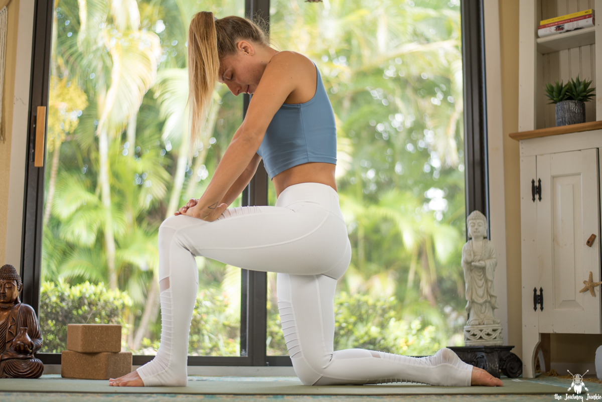 Yoga Flow for a Tight + Weak Psoas Muscle - Pin now, take time to heal your body now! Join me for a restorative, yet strong yoga practice to work the often forgotten tight + weak psoas muscle, one of the largest muscles in the body responsible for stability, flexibility and strength in our everyday lives!