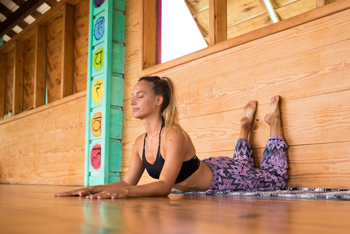 Yin Yoga Class at the Wall for Total Support and Full Relaxation