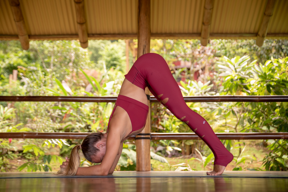 Headstand Yoga Class to Increase Happiness, Circulation, and Core Strength