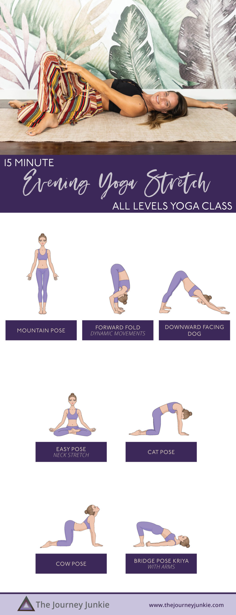 15 Minute Evening Yoga Stretch to End Your Day & Feel Proud of Yourself